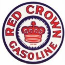 RED CROWN GASOLINE HEAVY STEEL SIGN 25.5""