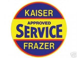 KAISER FRAZER SIGN STEEL SIGN METAL ADV CAR AD SIGNS K