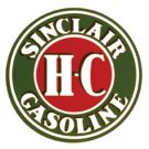 SINCLAIR H.C HEAVY STEEL ROUND SIGN BAKED ENAMEL 25.5""