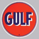 "GULF 25.5"" STEEL SIGN BAKED ENAMEL ADV AD SIGNS G"