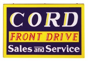 CORD SALES AND SERVICE SIGN METAL ADV SIGNS C