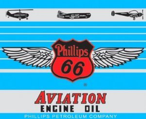 PHILLIPS 66 AVIATION SIGN DECORATIVE METAL ADV SIGNS P