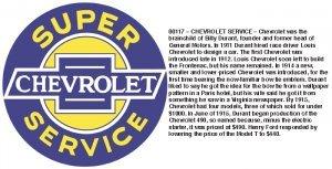 "42"" SUPER CHEVROLET SERVICE SIGN METAL ADV SIGNS C"