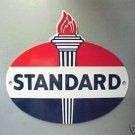 Standard Oil Torch Porcelain Coat Sign Vintage Look Man Cave Decor