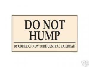 DO NOT HUMP PORCELAIN COAT SIGN METAL ADV AD SIGNS H