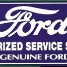 FORD SERVICE PORCELAIN COAT SIGN METAL ADV CAR SIGNS F