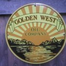 GOLDEN WEST OIL PORCELAIN-COATED SIGN METAL ADV SIGNS G