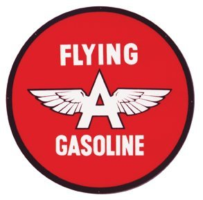 FLYING A GASOLINE SIGN METAL ADV SIGNPAST AD SIGNS F