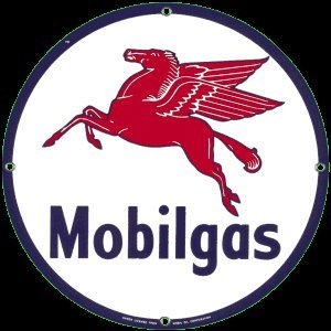 MOBILGAS PORCELAIN COAT SIGN METAL ADV SIGNS M