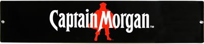 CAPTAIN MORGAN BLACK TIN SIGN METAL ADV SIGNS M