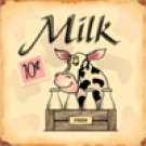 MILK TIN SIGN RETRO METAL ADV SIGNS M