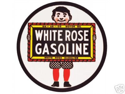 WHITE ROSE GASOLINE SIGN METAL ADV SIGNS