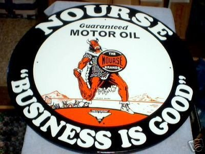 NOURSE TIN  SIGN  METAL ADV SIGNS N