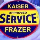 KAISER FRAZER SIGN PORCELAIN OVERLAY SIGNS K