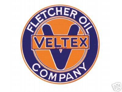 FLETCHER OIL COMPANY-VELTEX SIGNPAST SIGN METAL ADV SIGNS