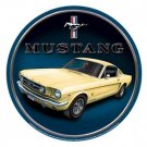 MUSTANG ROUND TIN SIGN METAL ADV SIGNS M