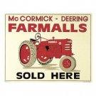 McCORMICK- DEERING FARMALLS TIN SIGN METAL SIGNS F