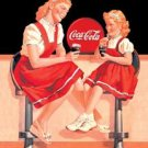 COKE REFRESH FOUNTAIN SIGN METAL RETRO ADV SIGNS