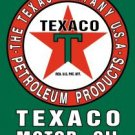 TEXACO MOTOR OIL TIN SIGN METAL RETRO ADV SIGNS T