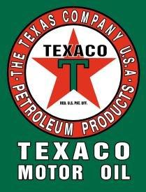 TEXACO MOTOR OIL TIN SIGN METAL RETRO ADV SIGNS T