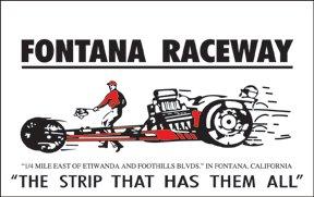 FONTANA RACEWAY SIGN RETRO STEEL SIGNPAST SIGNS