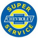 SUPER CHEVROLET SERVICE TIN SIGN METAL ADV SIGNS