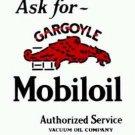 GARGOYLE MOBILOIL PORCELAIN-COATED ADV SIGN M