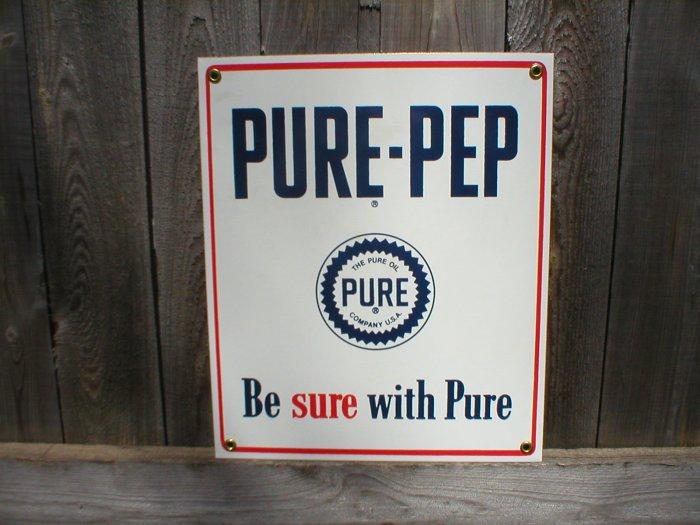 PURE-PEP PORCELAIN-COATED ADV SIGN P