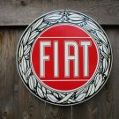FIAT PORCELAIN-COATED RETRO ADV SIGN F
