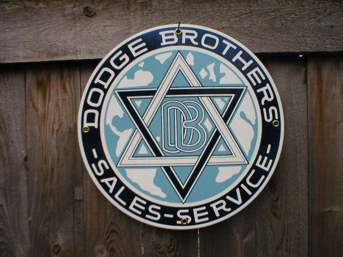 DODGE BROTHERS PORCELAIN-COATED RETRO ADV SIGN C