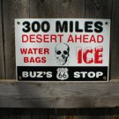 BUZ'S STOP PORCELAIN COATED SIGN RETRO ADV SIGNS B