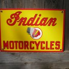 INDIAN MOTORCYCLES PORCELAIN COATED SIGN RETRO ADV SIGNS B