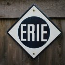 ERIE PORCELAIN-COATED RAILROAD SIGN A
