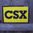 CSX TRANSPORTATION PORCELAIN-COATED RAILROAD SIGN C