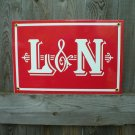 L & N PORCELAIN-COATED RAILROAD SIGN C