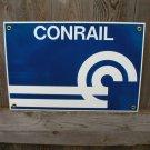 CONRAIL PORCELAIN-COATED RAILROAD SIGN C