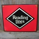 READING LINES PORCELAIN-COATED RAILROAD SIGN C