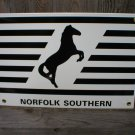 NORFOLK SOUTHERN PORCELAIN-COATED RAILROAD SIGN C