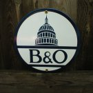 B&O PORCELAIN-COATED RAILROAD SIGN A