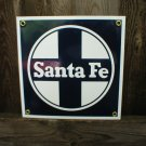 SANTA FE PORCELAIN-COATED RAILROAD SIGN S