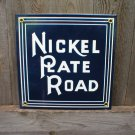 NICKEL PLATE ROAD PORCELAIN-COATED RAILROAD SIGN S