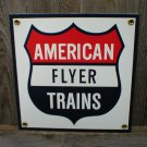 AMERICAN FLYER TRAINS PORCELAIN-COATED RAILROAD SIGN S