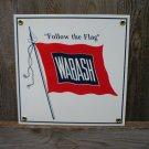 WABASH PORCELAIN-COATED RAILROAD SIGN S