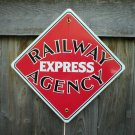 RAILWAY EXPRESS AGENCY PORCELAIN-COATED RAILROAD SIGN S