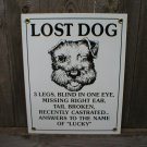 LOST DOG PORCELAIN-COATED SIGN D