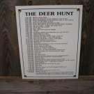 THE DEER HUNT PORCELAIN-COATED SIGN D