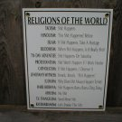 RELIGIONS OF THE WORLD PORCELAIN-COATED SIGN D