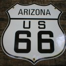 ARIZONA US 66 PORCELAIN-COATED SHIELD SIGN A