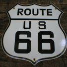 ROUTE 66 PORCELAIN-COATED SHIELD SIGN O
