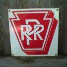 PRR PORCELAIN-COATED RAILROAD SIGN P